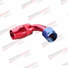10AN AN-10 90 градусов поворотный топливный трубопровод штуцер для шланга адаптер красный/синий
