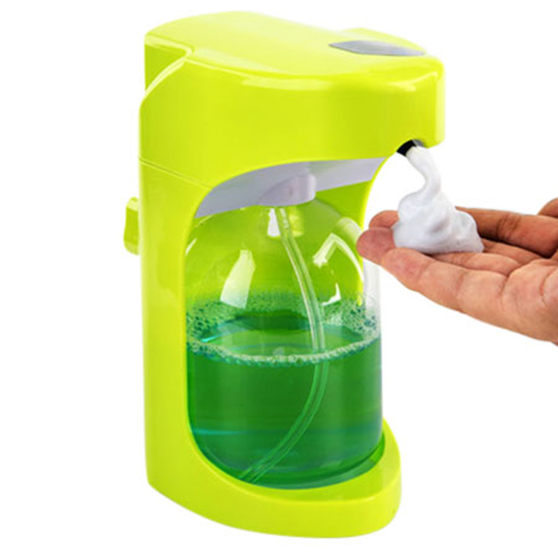 Bathroom Fixtures Automatic Foam Soap Dispenser Battery Operated Soap Dispenser Home Kitchen Bathroom Mute Infrared Induction Soap Storage Bottle