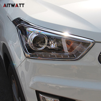 ABS Chrome Front Head Light Lamp Cover Trims Headlight Headlamp Frame Protector 2Pcs Set For Hyundai