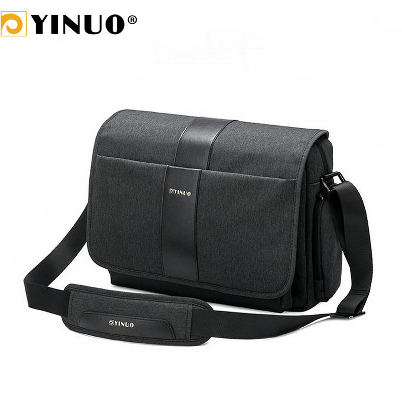YINUO Men's Briefcase Multifunction Laptop Bag Business Shoulder Bag Waterproof Crossbody For Macbook Pro 13.3