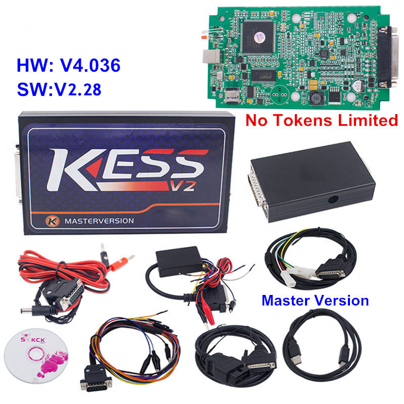 Newest No Token Limit KESS V2 V2 30 OBD2 Manager Tuning Kit Kess V 2 Master
