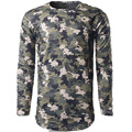 Green Gray Printed Camouflage Shirts Men Long Sleeve Hollow Out Stylish Spring Tops 2017 Male Casual Holes Kpop Camisa Masculina