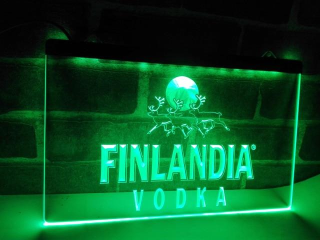 LE Finlandia Vodka LED Neon Light Sign Home Decor Craftsin - Car sign with namesonline get cheap d led sign aliexpresscom alibaba group
