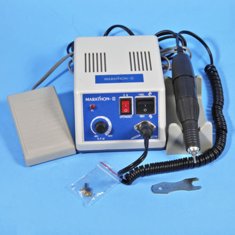 Dental Lab Electric Marathon Motor Micromotor Machine N3 + 35K RPM Handpiece dental lab marathon handpiece 35k rpm electric micromotor polishing drill burs