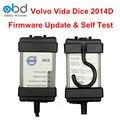 DHL Transporte Rápido Vide Dice Pro Scanner De Diagnóstico Para Automóveis Volvo Vide Dice Software All-in-one 2014D cheio De Chip PCB Verde