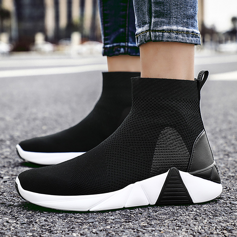 Fashion Sock Boots For women Wedges Big Size 43 46 EVA Breathable Ankle Boots Women Slip On Solid Platform Shoes Woman Casual in Ankle Boots from Shoes