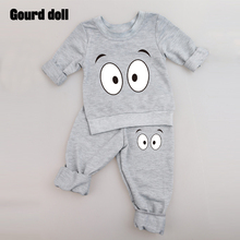 Baby Clothing Sets 2016 Spring Autumn Baby Boys girls Clothes Long Sleeve T-shirt+Pants 2Pcs Suits Children Clothing(China)