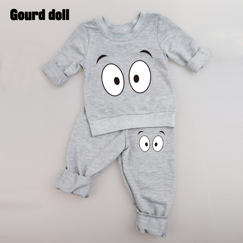 Baby Clothing Sets 2016 Spring Autumn Baby Boys girls Clothes Long Sleeve T-shirt+Pants 2Pcs Suits Children Clothing 2016 spring autumn cotton fashion boys clothes 3pcs children clothing sets long sleeve t shirt vest casual pants outfits b235