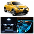 8pcs Ice Blue White LED Light Bulb Interior Package Kit For Nissan Juke 2011 2012 2013 2014 2015 License Plate Lamp Nissan-EF-23