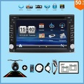 "2017 New! Touch Screen car dvd player gps navigation USB SD Bluetooth FM 6.2"" 2din in dash TFT support rear view camera input"