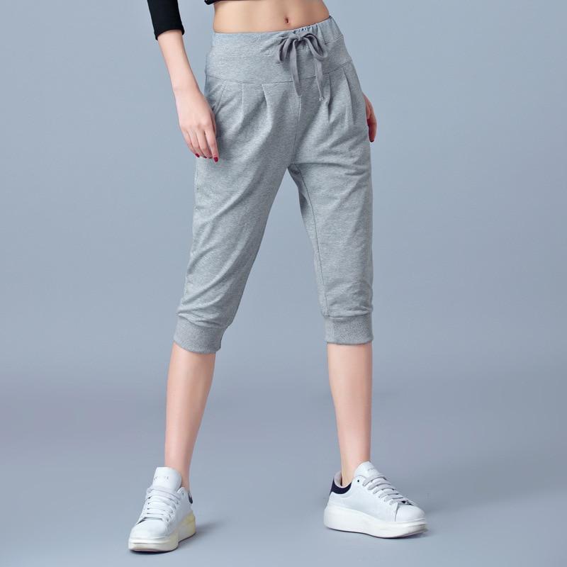 Large Size M-6XL Elastic Black Capris Pants Women Summer Thin Pants Ladies Trousers Stretch Joggers Sweatpants Female Plus Size