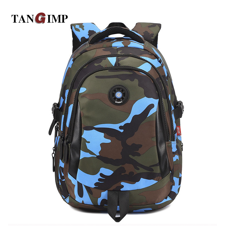 TANGIMP Kids Backpack School Bags Unisex Travel Mochila escolar Cool Backpacks Bags for Boys Girls Teenager 3 Size Camouflage