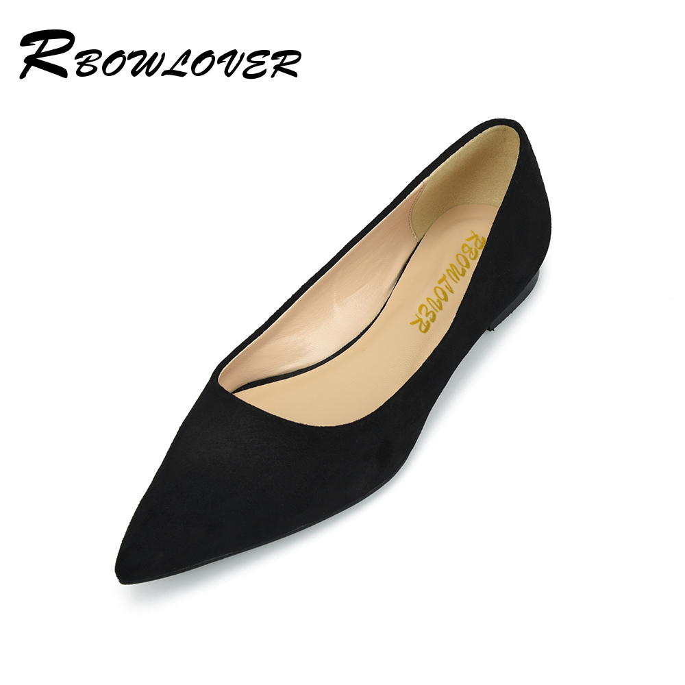 RBOWLOVER 2018 Women Flats Flock Material Point Toe Flats Shoes Women Casual Students Moms Flat point systems migration policy and international students flow