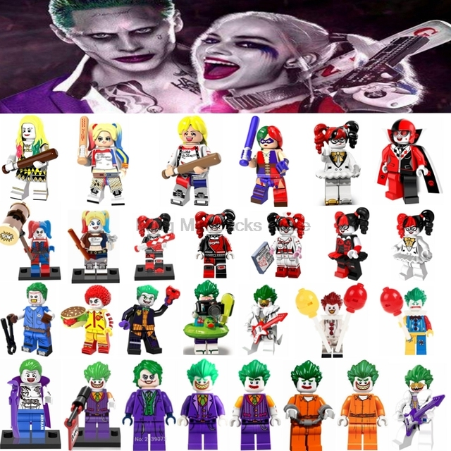 Legoing Marvel Ation Movie Figures Batman Joker Harley Quinn Building Blocks Model Toys for Children Compatible With Legoings