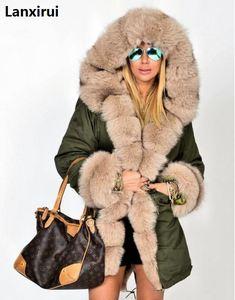 Image 3 - Plus size S 5XL casaco de inverno nova moda feminina com capuz casaco de pele do falso algodão velo feminino parkas hoodies casaco longo