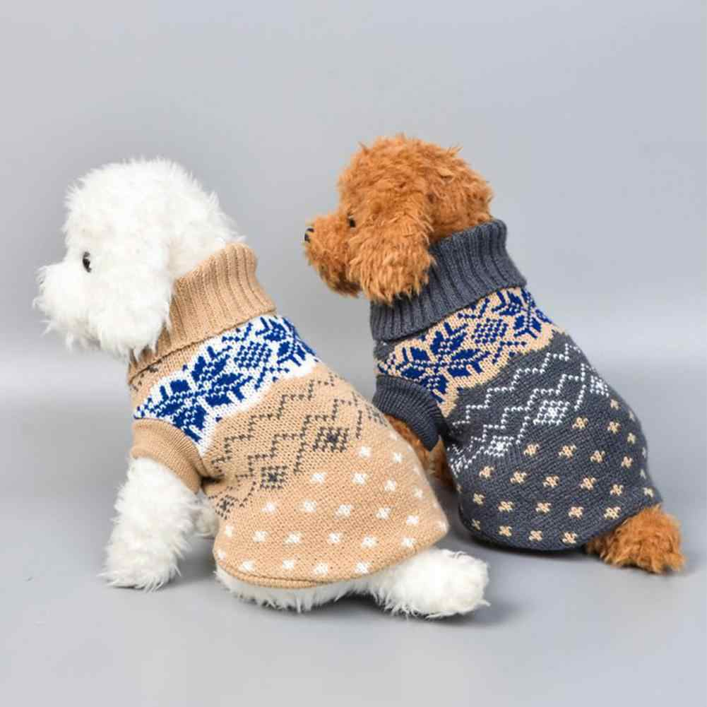 TPFOCUS Luxury Pet Dog Clothes Pet Dog Classics Dot Sweater Puppy Turtleneck Cloth Winter Autumn Pet Hoodies High Collar Costume