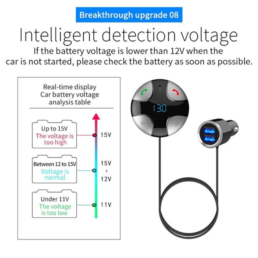 Автомобильный беспроводной bluetooth-приемник Bluetooth приемник ЭЛЕКТРОННЫЙ АВТО музыкальный приемник динамик телефон громкой связи Bluetooth 4,2 5 В/3.4A
