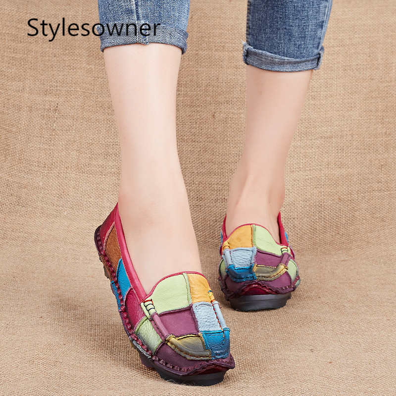 Style Cuir Femme De Taille Automne Chaussures Plus 02 La Occasionnels 03 Femmes Mocassins Appartements Enceintes En Perdants 01 Propriétaire 1q5xd8wtq