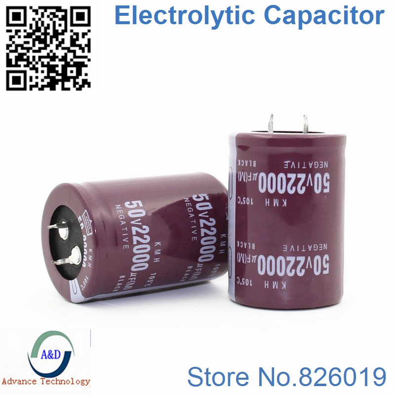 6pcs/lot 50V 22000UF Radial DIP Aluminum Electrolytic Capacitors Size 35*50 22000UF 50V Tolerance 20%