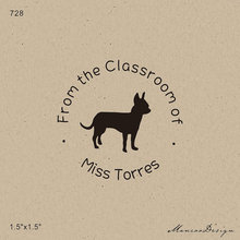 1 5 X1 Free Shipping From The Desk Of Stamp Chihuahua Wood Rubber