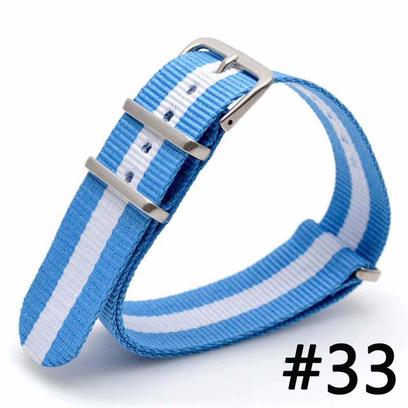 Men Women Fabric Nylon Watch Bands Strap 16 18 20 22 24mm Top Quality 2017 Nato Army Sports Buckle 9 color available