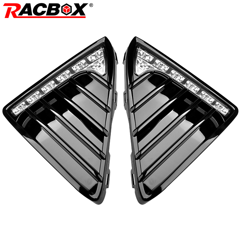 RACBOX Auto Car LED DRL Daytime Running Light Gloss Fog DRL Lamp 6000K White Light 20W For 2012 2013 2014 Ford Focus 3 2x led drl driving daytime running day fog lamp light for ford mondeo 2011 2012 2013