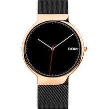 DOM Top Brand Women Watch  Fashion Quartz Clock Dress Stainless Steel Analog Wristwatch Women Luxury Bracelet watches mens 2019