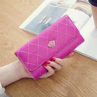 Flambant neuf femmes portefeuille de luxe femme longue poche porte-monnaie portfel concepteur porte feuille femme portefeuille porte-carte pochette
