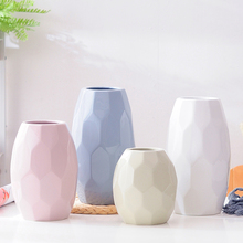 Modern Nordic Ceramic vases ornaments Crafts Geometric flower vase  Decorative  centerpieces for weddings home decoration nordic modern geometric gold ceramic vase creative vases for flower living room tabletop wedding vase home decorative ornaments