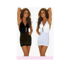 Sexy women braces black and white erotic lingerie,spandex long tank top style babydoll lingerie