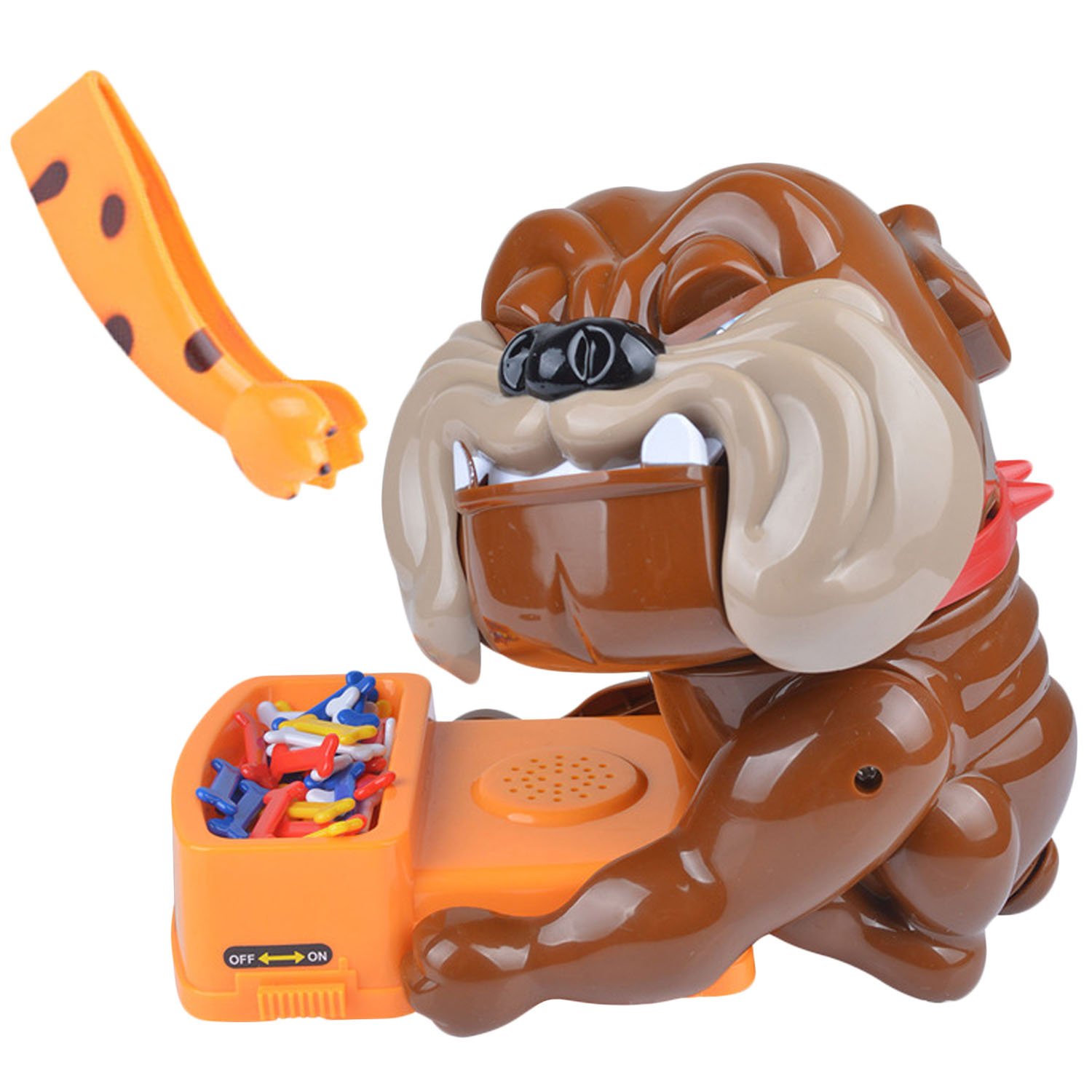 Besegad Funny Tricky Games Bad Dog Chew Bone Action Games Biting Wake Dog Interactive Toys For Party Family Parents Kids Friends