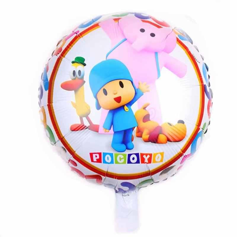 10 pçs/lote Pocoyo Pocoyo Balão da folha Para A Decoração Do Casamento da Festa de Aniversário Dos Desenhos Animados Balões Balões de Festa Inflables Brinquedos presente do Menino