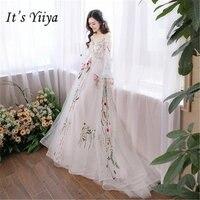 Это YiiYa Мечтая кружева Ligth Свадебные платья маленький поезд Лодка шеи невесты платья кружева Vestidos Deovia Casamento HX064