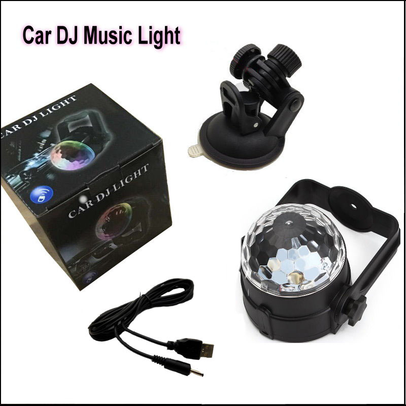 For Chevy Chevrolet Lacetti / Matiz nubira USB Music Rhythm Car Light, LED Voice-control Lights, Induction Discus DJ Lamp