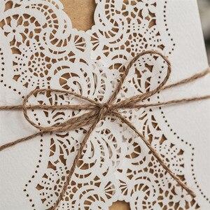 Image 5 - 50pcs נייר לייזר לחתוך חתונה הזמנות כרטיס ערכות עם מעטפות מתנת יום הולדת ברכה כרטיסי חתונה דקור ספקי צד