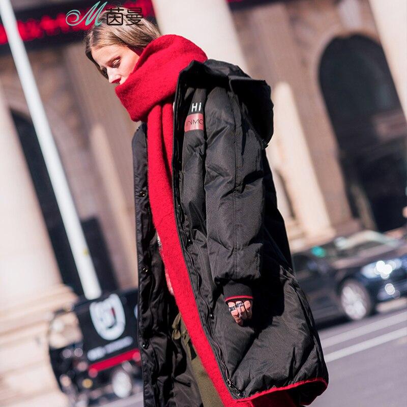 Image 4 - INMAN Hooded Printing Leisure Ladies Female Girl Winter Long Duck  Down Leather Warm Coat Women Jackets Fashion Overcoatovercoat  fashionovercoat womenovercoat long