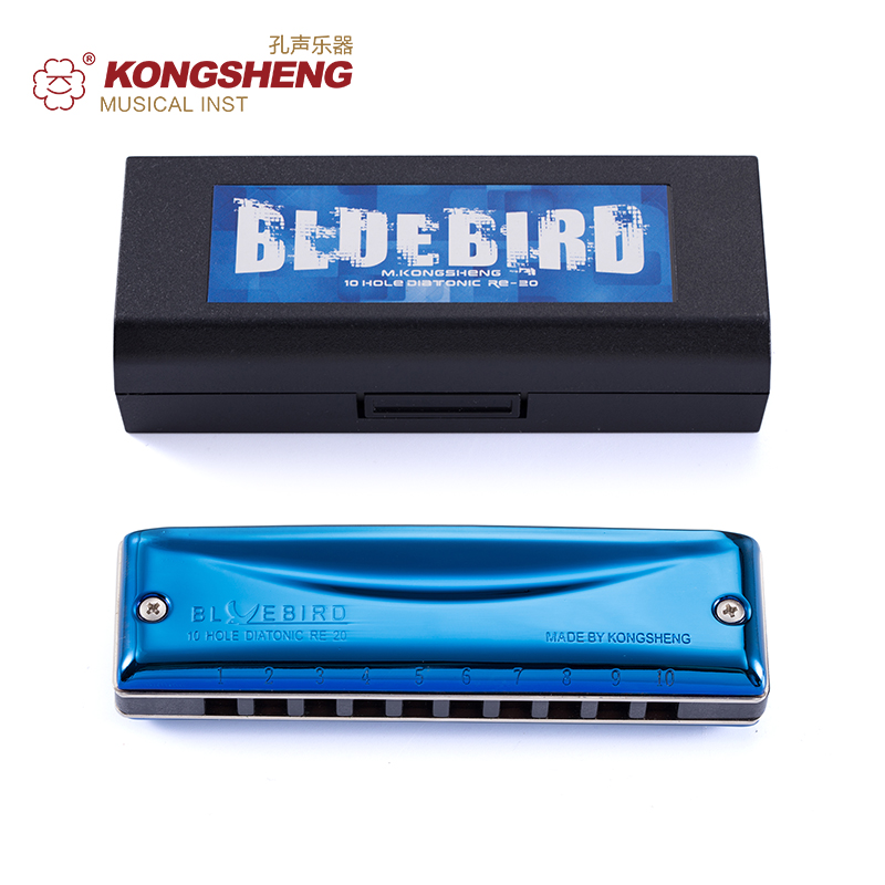 KONGSHENG 10 Holes Blues Harmonica Diatonic Blues Harp Blue Professional Musical Instrument Key of C/Db/D/Eb/E/F/Gb/G/Ab/A/Bb/B hohner blues harp 532 20 ms a m533106x