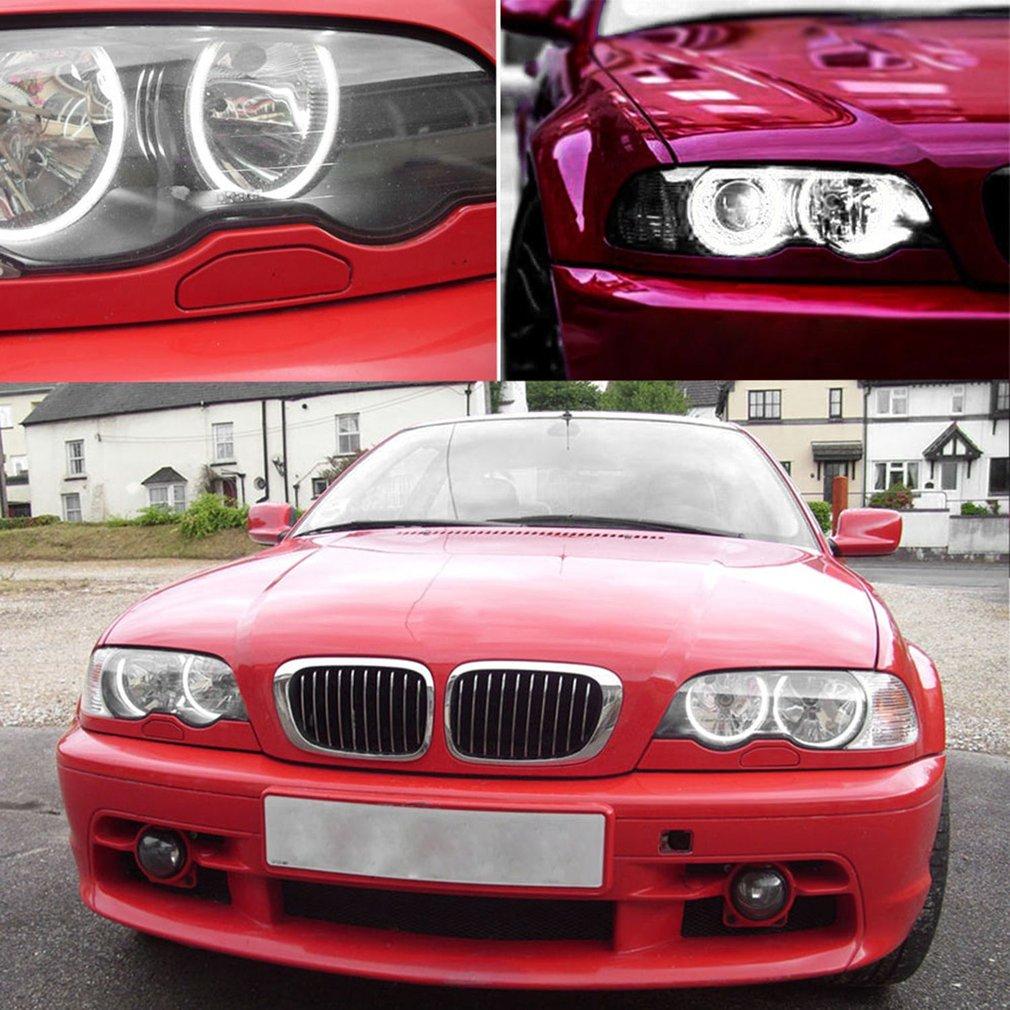 4pcs Waterproof CCFL Angel Eyes LED Circle Headlight 200LM 16W 6000-6500K Stable Performance for BMW E46 E38 E36 E39 Car Lights все цены