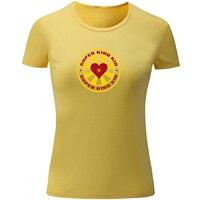 سوبر نوع طفل تصميم طباعة عارضة قصيرة الأكمام تي شيرت المرأة فتاة سيدة القطن t-shirt عينة نمط س الرقبة تي شيرت الأساسية قمم