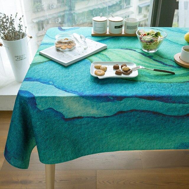 bedding green watercolortablecloth european functional table cloth