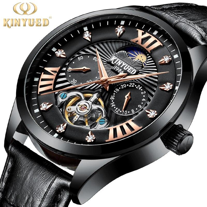 KINYUED montre hommes mode Sport mécanique hommes montres Top marque luxe affaires étanche montre Relogio Masculino J050P-3