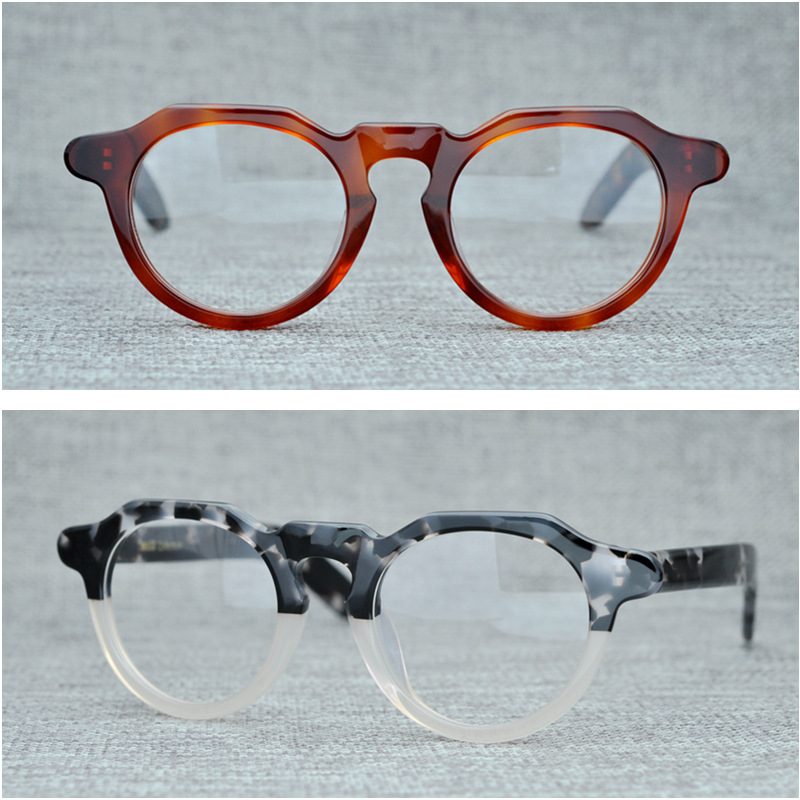 53b7e3bc24f Cubojue Acetate Eye Glasses Frame Men Women Thick Eyeglasses Man s Optic Prescription  Spectacles Vintage Novelty Tortoise Male-in Eyewear Frames from ...