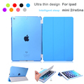 Fashion PU Leather Slim Magnetic Front Smart Cover Skin +Hard PC Back Case For ipad mini &ipad mini 2 3 retina