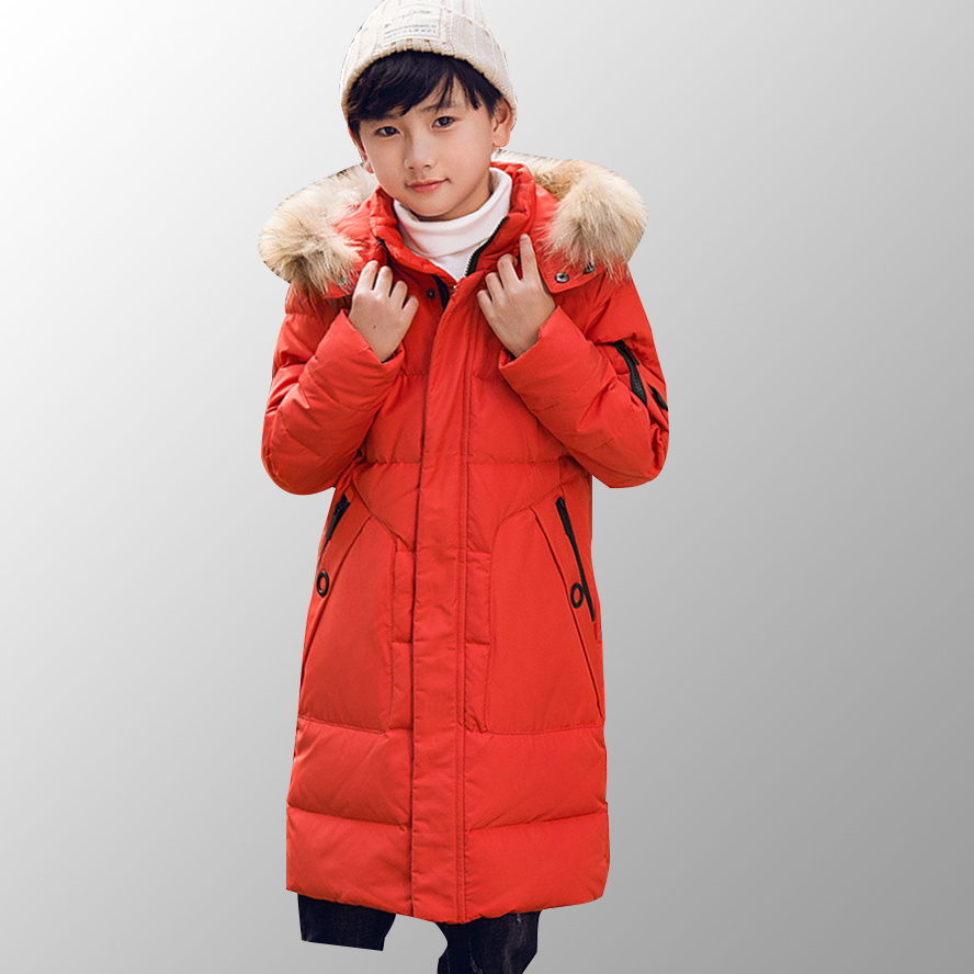 Boys Outerwear Down Jacket Duck Down Kids Winter Coats Baby Boys Winter Parkas Children Warm Hooded Clothing for 6 8 10 12 Year 5 14y high quality boys thick down jacket 2016 new winter children long sections warm coat clothing boys hooded down outerwear