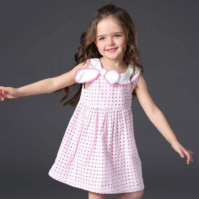 58c253691870c1 Kids Baby Meisjes Zomer Little Jurken Kinderen Roze Plaid Jurk Katoen  kleding Prinses Japon Jurk voor