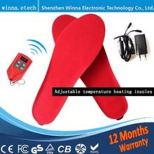 Jaunas USB elektroniskās apsildes zolītes apaviem vīriešiem sievietēm zābakam Tips Baterija Powered ski Insoles Izmērs EUR 35-46 # 2000MAH melns sarkans