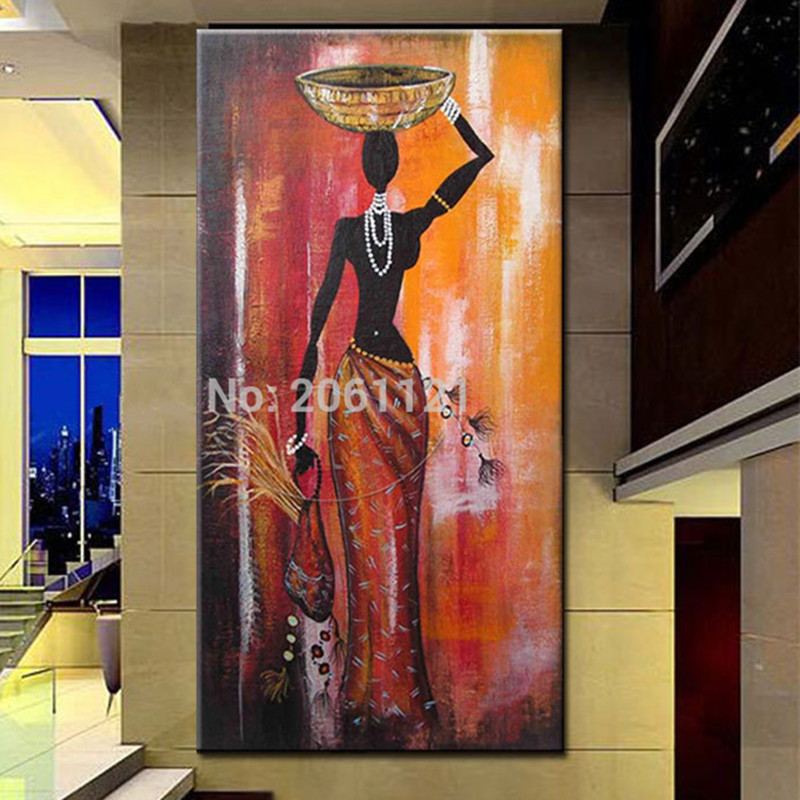 No Frame Large Figure Painting Pictures Handpainted Abstract African Women Oil Paintings On Canvas Modern Home Decor Wall Art