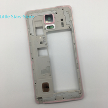 Pink Original Metal Middle Frame Housing Bezel For Samsung Galaxy Note4 N910 N910F N910A Free Shipping