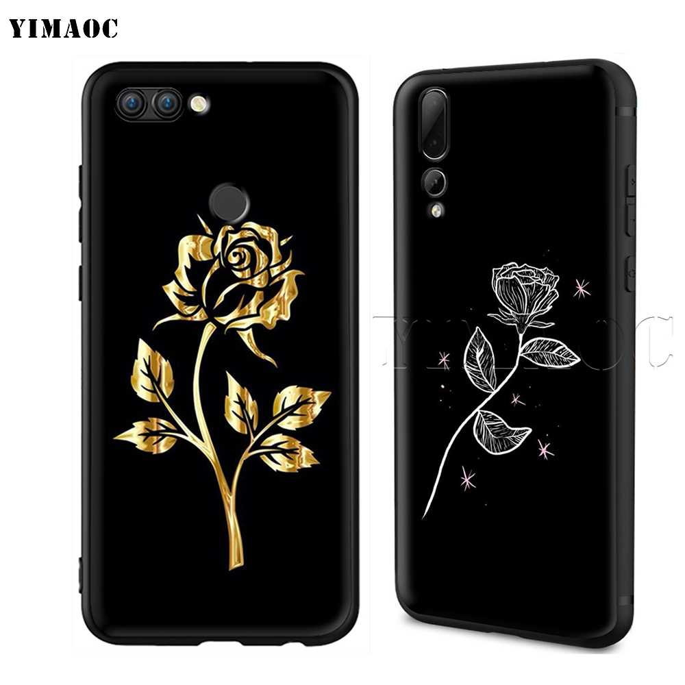 hot sale online 7db69 37f6c YIMAOC Korean Kakao Cocoa Friend Silicone Case for Huawei Honor 6a 7a 7c 7x  8 9 10 Lite Pro Y6 2018 2017 Prime