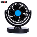 12V Car Mini Electric Fan 360 Degree Adjustable Strong Wind Cooling Fan Low Noise for Car Truck Free Shipping